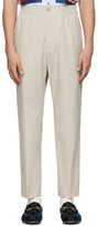 Gucci Beige Cotton Poplin Logo Trousers