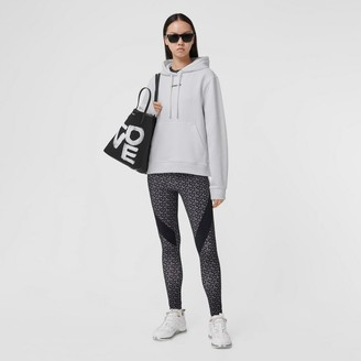 Burberry Meditation Print Cotton Oversized Hoodie
