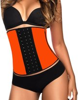 YIANNA Women's Latex Sport Girdle Waist Training Corset Waist Shaper,CA-U37G-Black-4XL