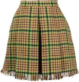 MSGM Checked Tweed Mini Skirt
