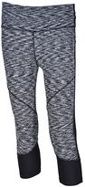 Therapy Black & Gray Space-Dye Mesh-Panel Performance Capri Leggings