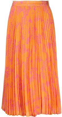 Tanya Taylor Jeana pleated midi skirt