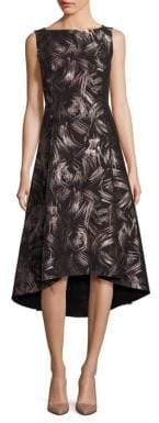 Lafayette 148 New York Spark Printed A-Line Dress