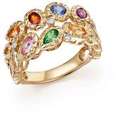 Bloomingdale's Multicolor Sapphire and Diamond Band in 14K Yellow Gold