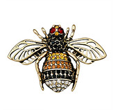 Ella & Elly Women's Brooches and Pins Yellow - Yellow & Goldtone Bee Brooch