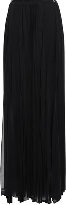 Versace Pleated Silk-blend Georgette Maxi Skirt