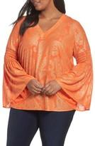 MICHAEL Michael Kors Plus Size Women's Samara Bell Sleeve Top