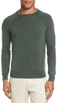 Eleventy Men's Raglan Sleeve Washed Cashmere Sweater