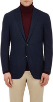 Luciano Barbera Men's Wool Two-Button Sportcoat-NAVY