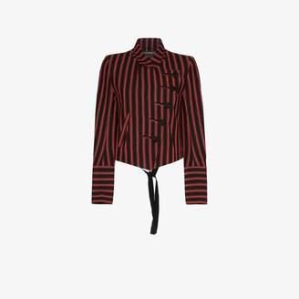 Ann Demeulemeester striped asymmetric blazer