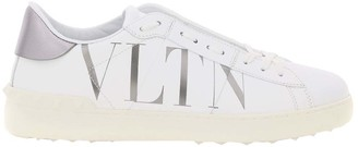 Valentino White Leather Open Sneakers Vltn Size 40