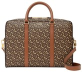Burberry Monogram Print E-canvas And Leather Briefcase