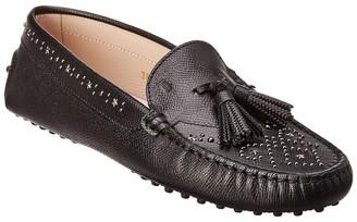 Tod's Embellished Tassel Leather Moccasin