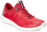 Ecco Tomato & Concrete Soft 5 Leather Sneaker - Women