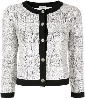 Chanel Pre-Owned Long Sleeve Spangle Jacket
