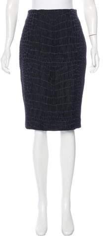 Saint Laurent Jacquard Knee-Length Skirt