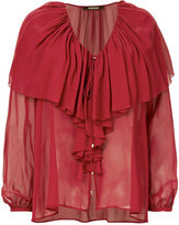 Roberto Cavalli ruffled blouse - women - Silk - 40