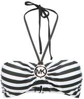 MICHAEL Michael Kors LOGO RING BANDEAU Bikini top ivy