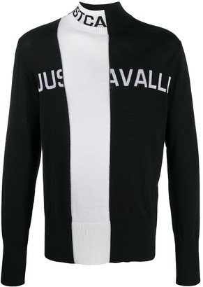 Just Cavalli Two-Tone Knit Jumper