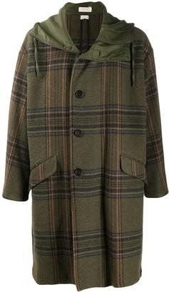 Massimo Alba Check Duffle Coat