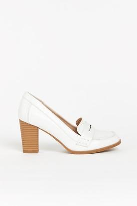 Wallis White Heeled Loafer