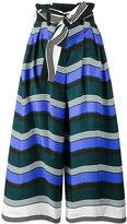 Fendi wave print flared trousers - women - Cotton - 42