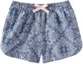 Joe Fresh Kid Girls' Denim Short, Medium Wash (Size XL)