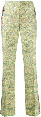 Moschino Floral Pattern Flared Trousers