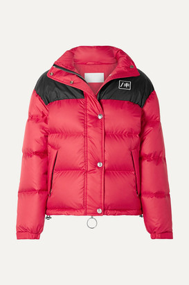 RE/DONE + Ienki Ienki Cropped Quilted Shell Down Jacket - Red