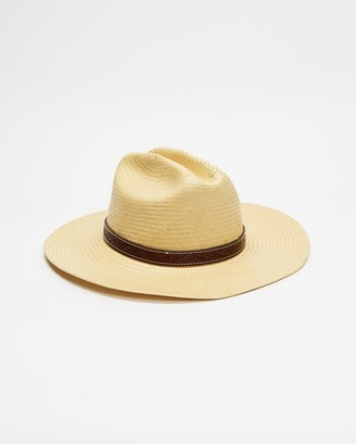 Brixton Yellow Hats - Fender Paycheck Fedora - Size M at The Iconic