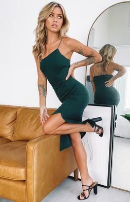 Beginning Boutique Cecilia Bodycon Midi Dress Emerald