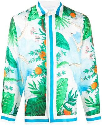Casablanca Tropical Print Shirt