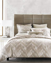 Hotel Collection Distressed Chevron King Duvet Cover, Created for Macy's Bedding