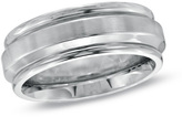 Zales Triton Ladies' 7.0mm Comfort Fit Grooved Stainless Steel Wedding Band