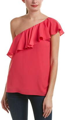 French Connection Summer Crepe One-Shoulder Top