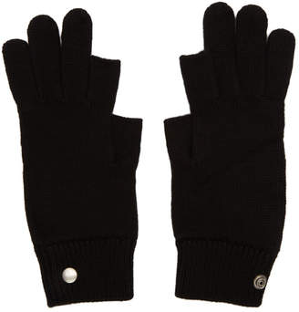 Rick Owens Black Larry Touchscreen Gloves