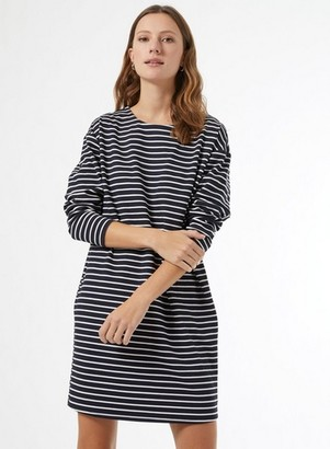 Dorothy Perkins Womens Blue Striped Cocoon Shift Dress, Blue