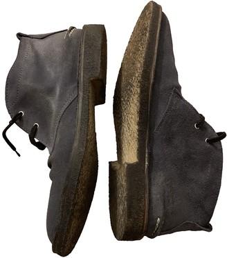 Golden Goose Grey Suede Boots