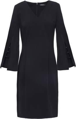 DKNY Bead-embellished Cutout Stretch-crepe Dress