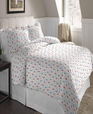 Pointehaven Superior Weight Cotton Flannel Duvet Set - Full/Queen Bedding
