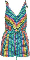 Mara Hoffman Flight Rainbow-print crepon playsuit