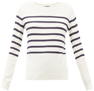 A.P.C. Cordelia Breton-stripe Merino Wool-blend Sweater - Womens - Ivory