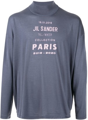 Jil Sander Printed Logo Knitted Jumper