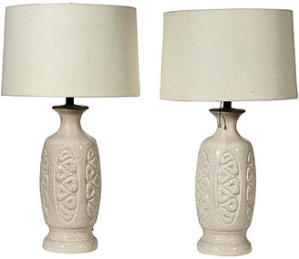 One Kings Lane Vintage 1960s Asian-Style Ceramic Table Lamps,Pr - 2-b-Modern