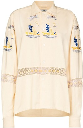 Bode Sailboat Embroidered Shirt