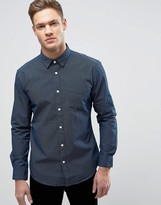 Esprit Shirt In Slim Fit With All Over Ditsy Dot Print