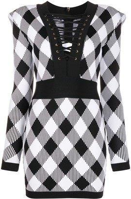 Balmain Short Lace-Up Dress