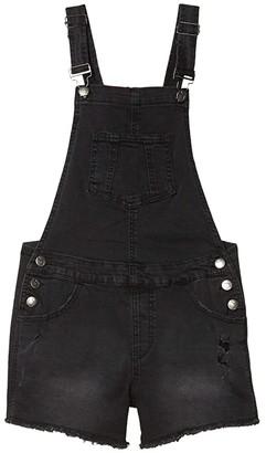 Joe's Jeans Destructed Denim Overall in Charred Black (Big Kids) (Charred Black) Girl's Overalls One Piece