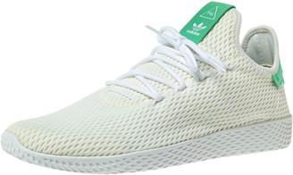 adidas Pharrell Williams x White/Green Cotton Knit PW Tennis Hu Sneakers Size 46