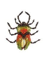 Gucci Bug crystal-embellished brooch